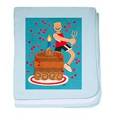 Will Run For Cake baby blanket
