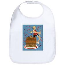 Will Run For Cake Bib