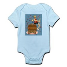 Will Run For Cake Infant Bodysuit
