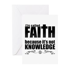 Faith Is Not Knowledge Greeting Cards (Pk of 20)