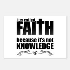 Faith Is Not Knowledge Postcards (Package of 8)