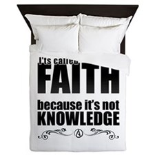 Faith Is Not Knowledge Queen Duvet
