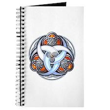 Celtic Triple Crescents - Orange Journal