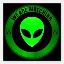 "Alien Seal.png Square Car Magnet 3"" x 3"""