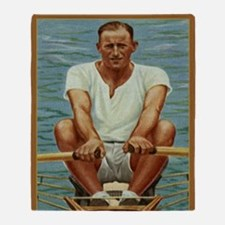 The Rower Throw Blanket