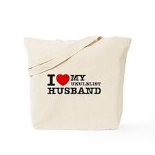 I love my Ukulelist husband Tote Bag