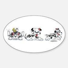 Dalmatians Oval Decal