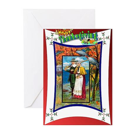 Pilgrim couple Greeting Cards (Pk of 10)