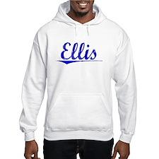Ellis, Blue, Aged Hoodie