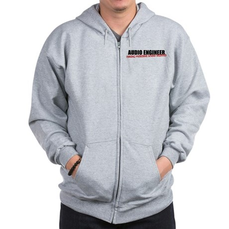 Audio Engineer Zip Hoodie (light)