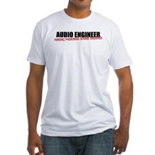 Audio Engineer T-Shirt (men's fitted white)