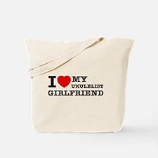 I love my Ukulelist girlfriend Tote Bag