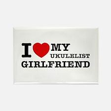 I love my Ukulelist girlfriend Rectangle Magnet