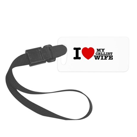 I love my Cellist wife Small Luggage Tag