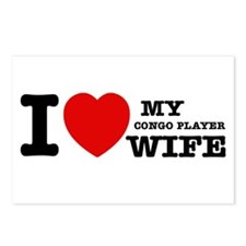 I love my Congo Player wife Postcards (Package of