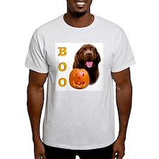 Halloween Brown Newfoundland Boo Ash Grey T-Shirt