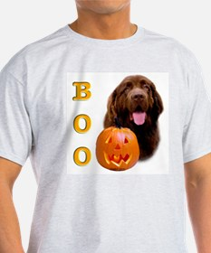 Halloween Brown Newfoundland Boo Ash Grey T-Shirt