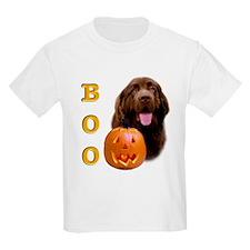 Halloween Brown Newfoundland Boo Kids T-Shirt
