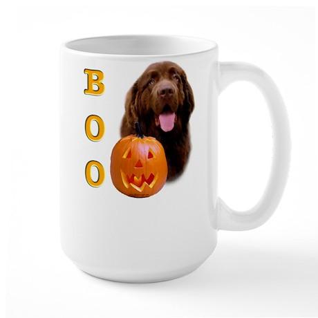 Halloween Brown Newfoundland Boo Large Mug