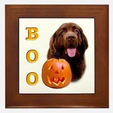 Halloween Brown Newfoundland Boo Framed Tile