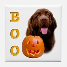 Halloween Brown Newfoundland Boo Tile Coaster