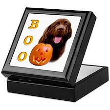 Halloween Brown Newfoundland Boo Keepsake Box
