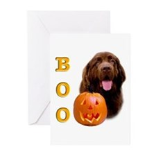 Halloween Brown Newfoundland Boo Greeting Cards (P