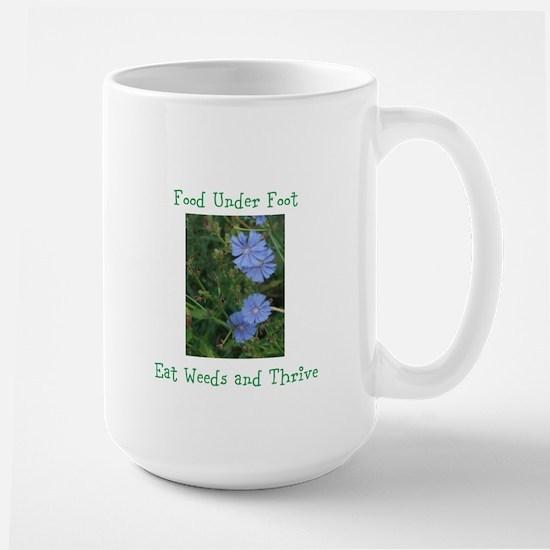 Food Under Foot Eat Weeds Chicory Large Mug