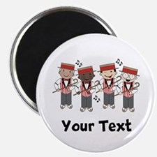 Personalized Barbershop Music Magnet