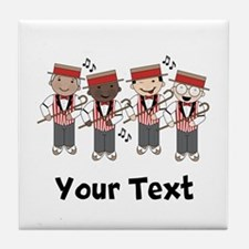 Personalized Barbershop Music Tile Coaster