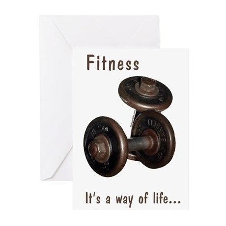 Fitness Greeting Cards (10)