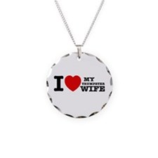 I love my Trumpeter wife Necklace Circle Charm