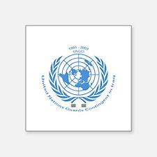 "UNGCI Blue logo Square Sticker 3"" x 3"""