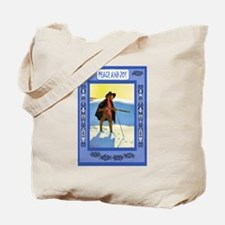Fishing through the ice and snow Tote Bag