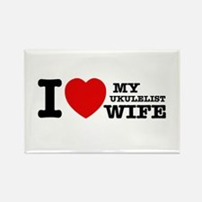 I love my Ukulelist wife Rectangle Magnet