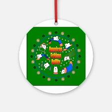 American Eskimo Agility Ornament (Round)