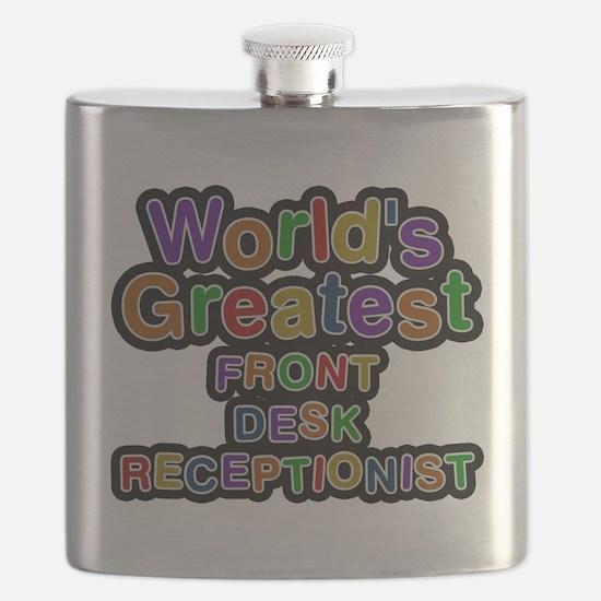 Worlds Greatest FRONT DESK RECEPTIONIST Flask