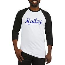 Hailey, Blue, Aged Baseball Jersey