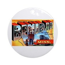 Bemidji Minnesota Greetings Ornament (Round)