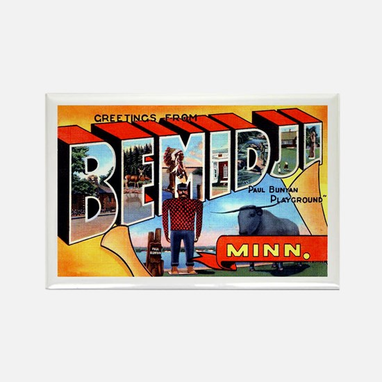 Bemidji Minnesota Greetings Rectangle Magnet