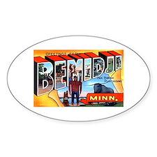 Bemidji Minnesota Greetings Decal