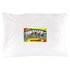 Escanaba Michigan Greetings Pillow Case