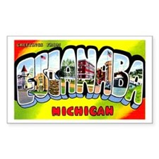 Escanaba Michigan Greetings Decal