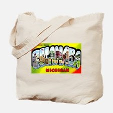 Escanaba Michigan Greetings Tote Bag