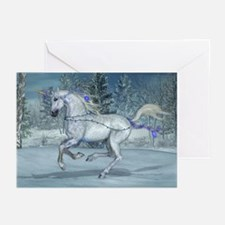 Holiday Unicorn 2012 Blue Greeting Cards (Pk of 20