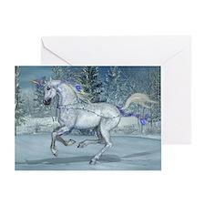 Holiday Unicorn 2012 Blue Greeting Card