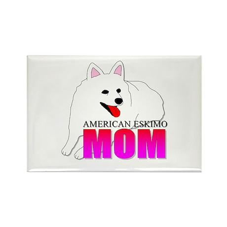 American Eskimo Dog Mom Rectangle Magnet (100 pack