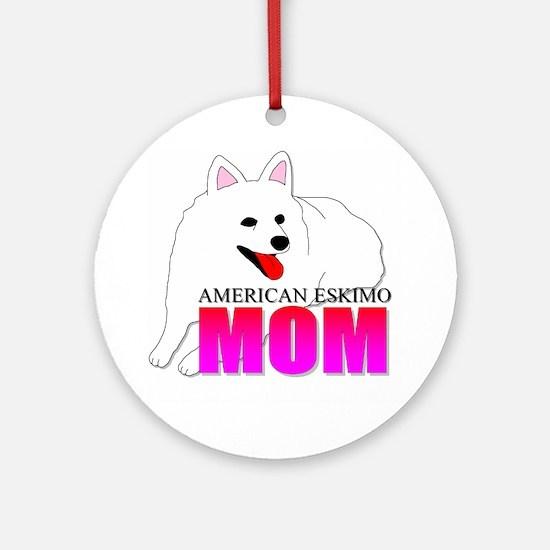 American Eskimo Dog Mom Ornament (Round)