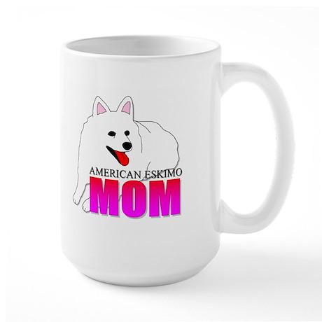 American Eskimo Dog Mom Large Mug