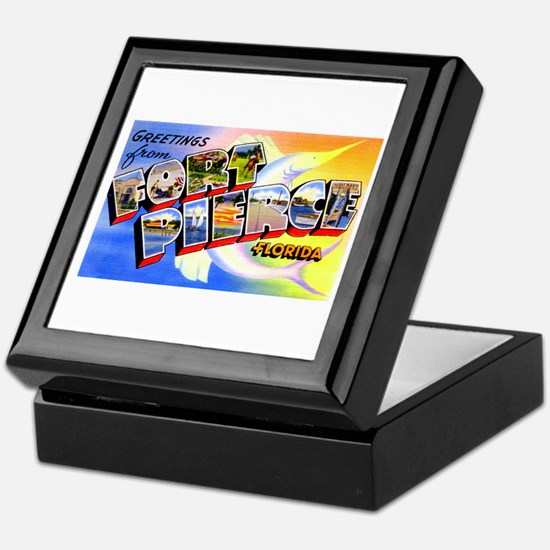 Fort Pierce Florida Greetings Keepsake Box